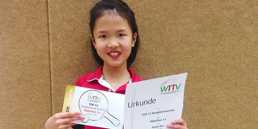 Großer Erfolg für Ruoqi Wei