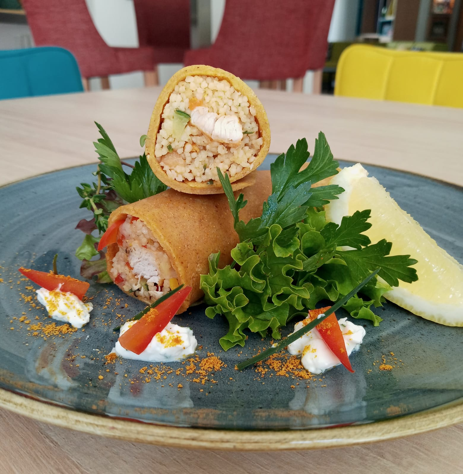 Read more about the article Couscous-Crêpe Rolle