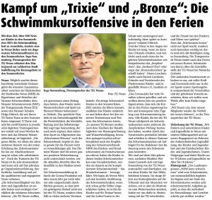 Read more about the article Schwimmkursoffensive in den Sommerferien