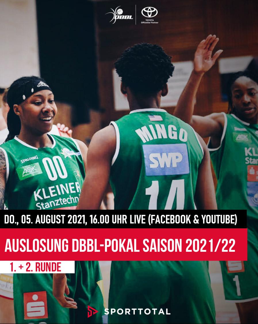 Live: Auslosung DBBL-Pokal 2021-22  (1. + 2. Runde)