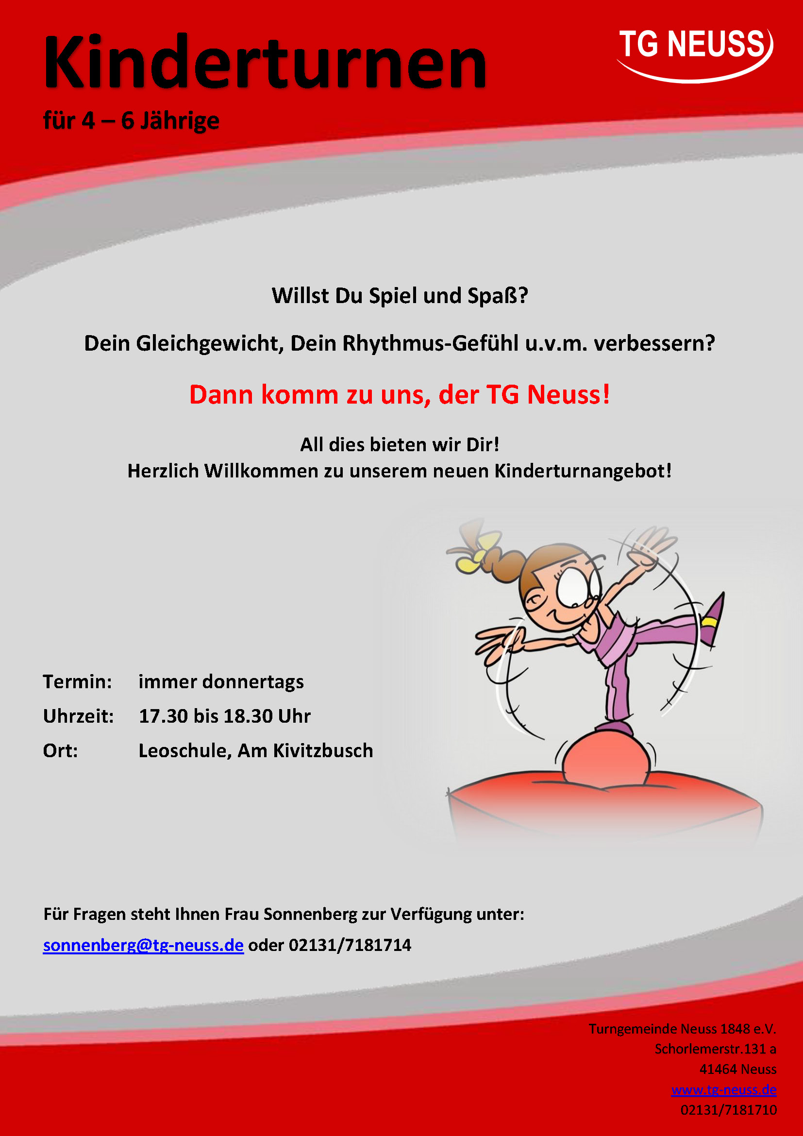 Read more about the article neues Kinderturn Angebot